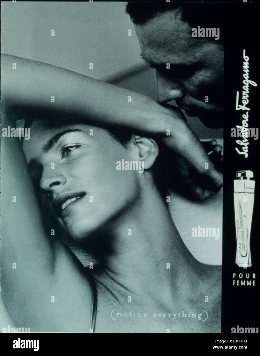 2000s UK Salvatore Ferragamo Magazine Advert - Stock Image