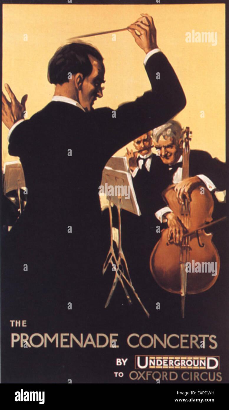 1920s UK London Underground Poster - Stock Image