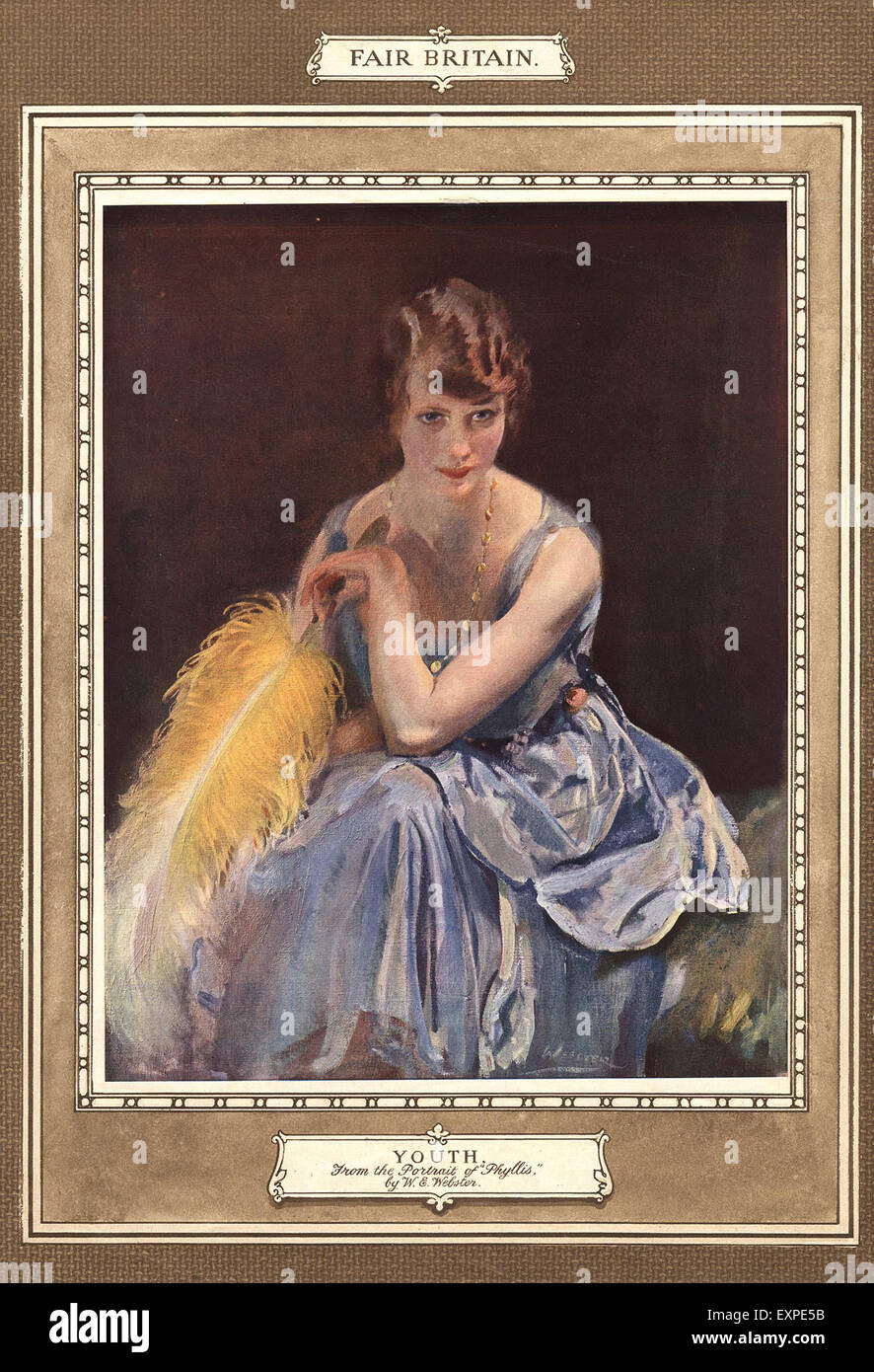 1910s UK Portraits Magazine Plate - Stock Image