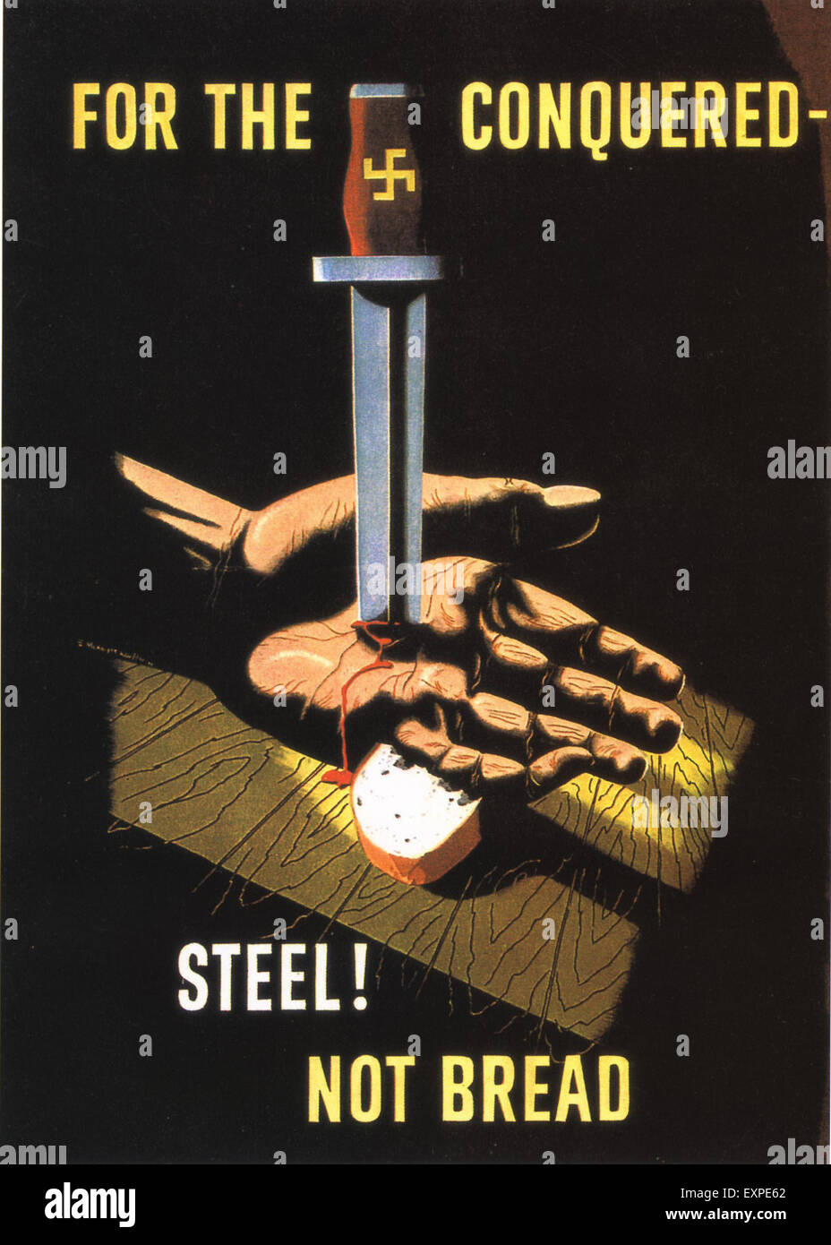 1940s UK WW2 Poster Stock Photo
