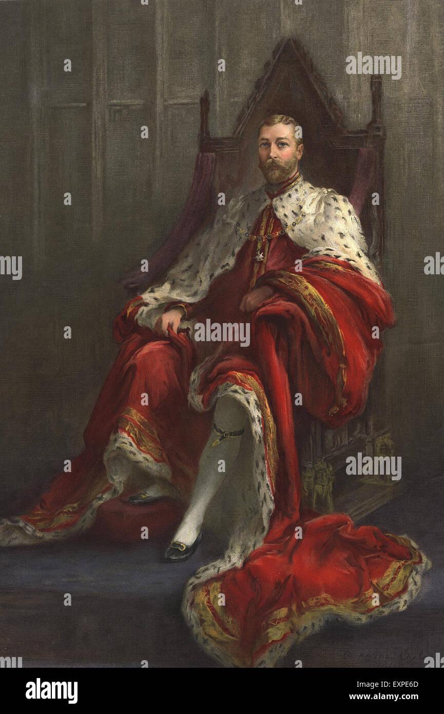 1930s UK King George V Magazine Plate - Stock Image