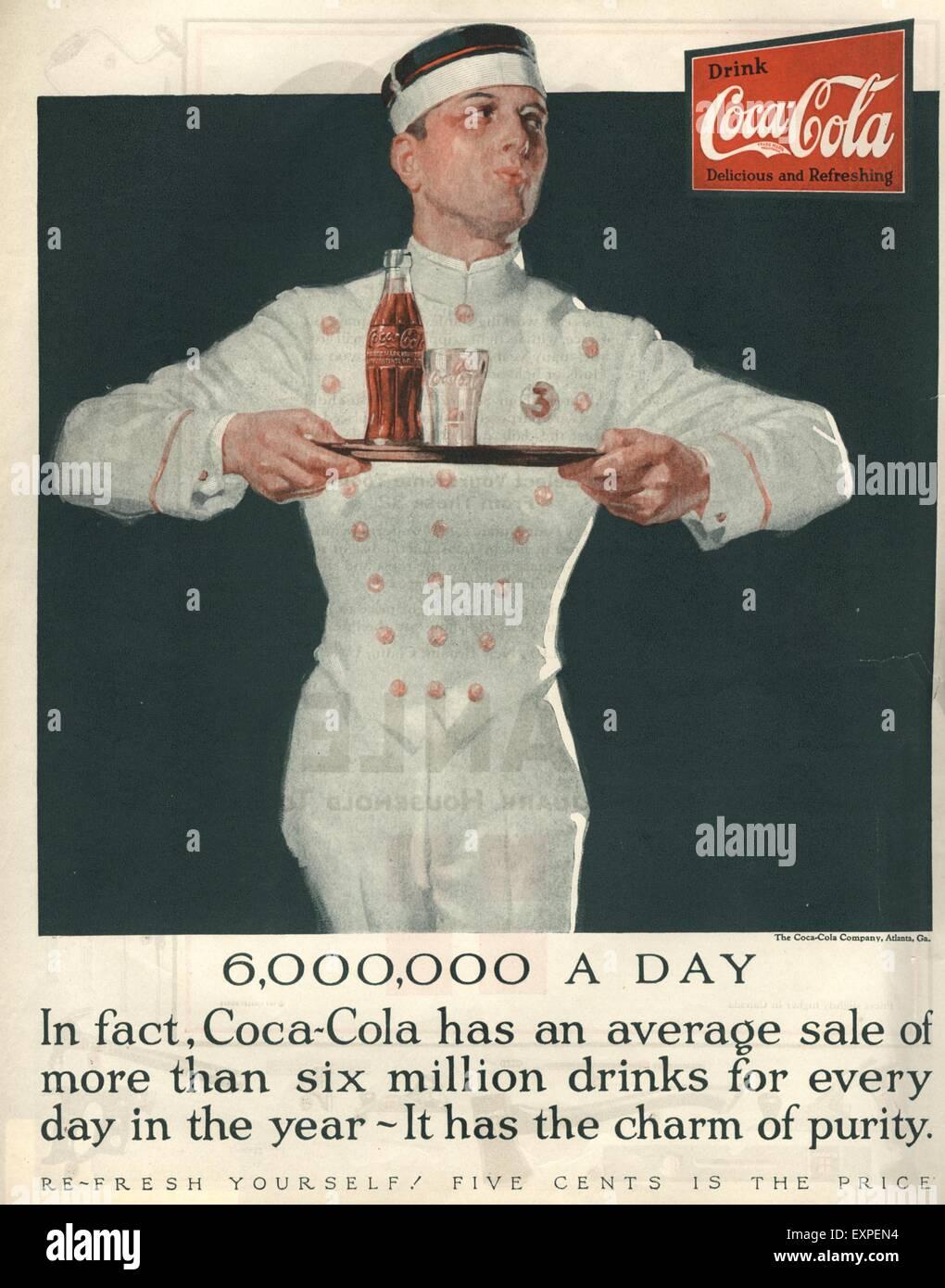 Usa Magazine Advert 1920s Stock Photos Usa Magazine Advert 1920s