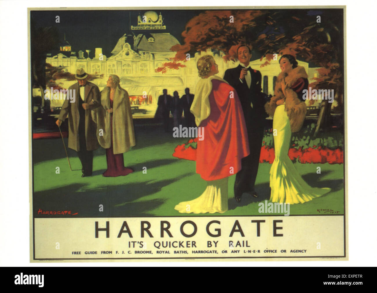 1930s UK Harrogate Poster - Stock Image