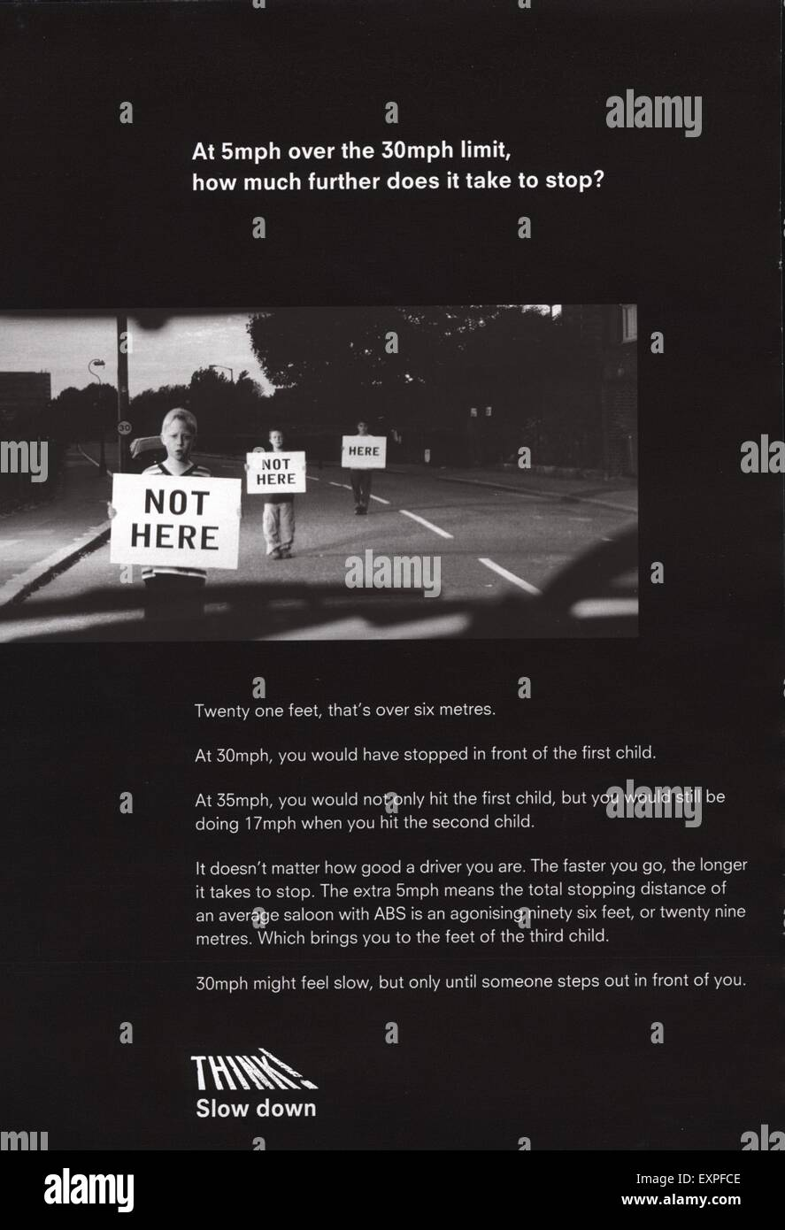 2000s UK Government Campaigns Road Safety Magazine Advert - Stock Image
