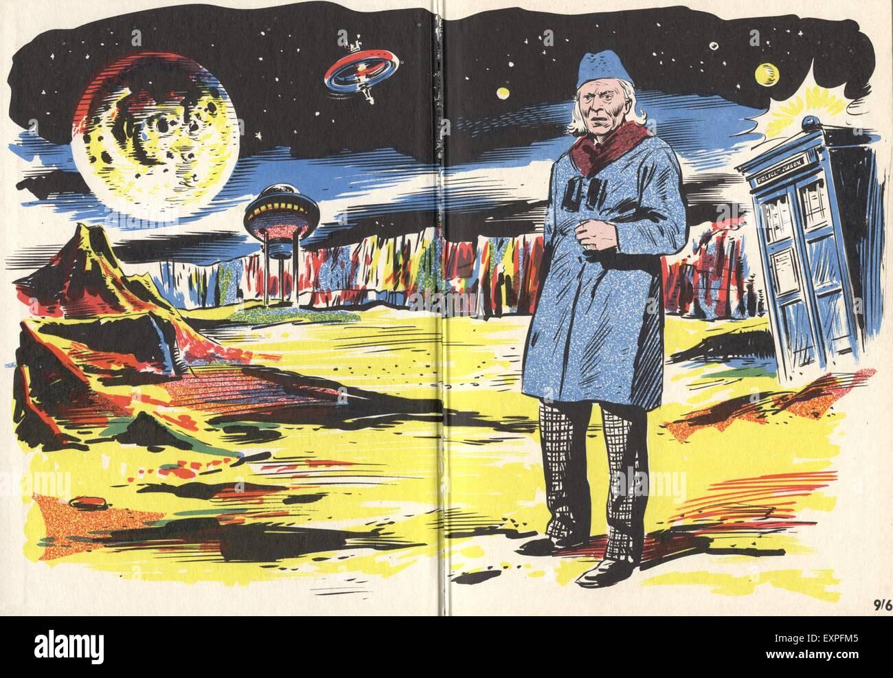 1960s UK Dr Who Comic/ Cartoon Plate - Stock Image