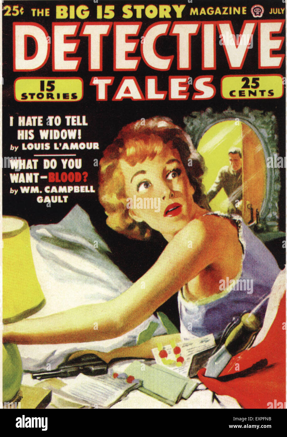 1930s USA Detectives Tales Magazine Cover - Stock Image