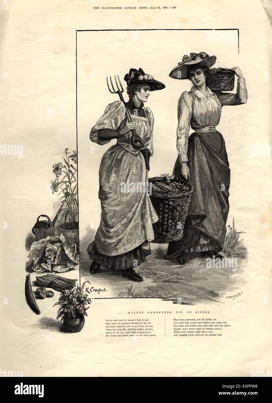 1890s Uk Gardening Magazine Plate Stock Photo 85317940 Alamy