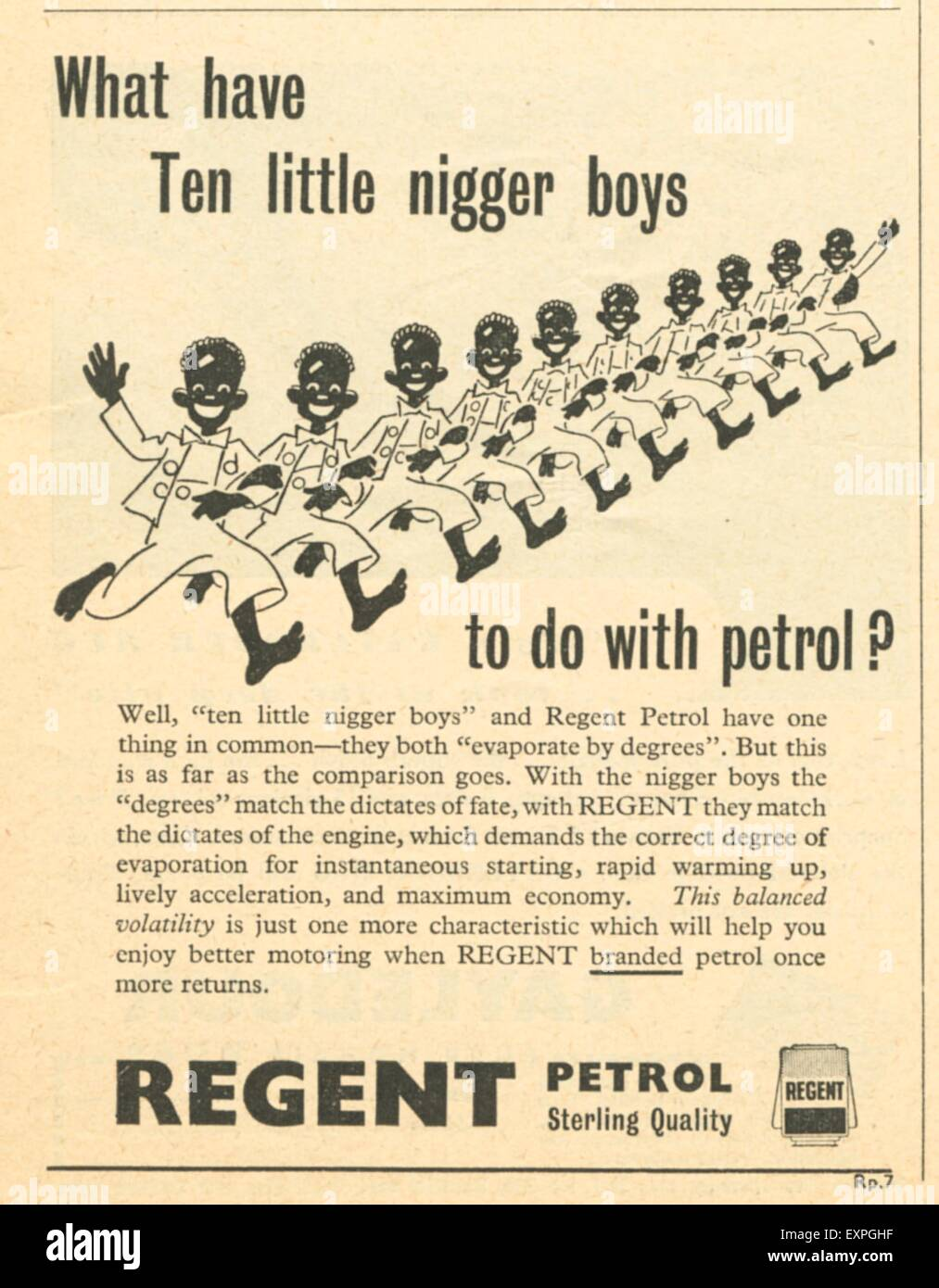 1940s UK Regent Magazine Advert - Stock Image