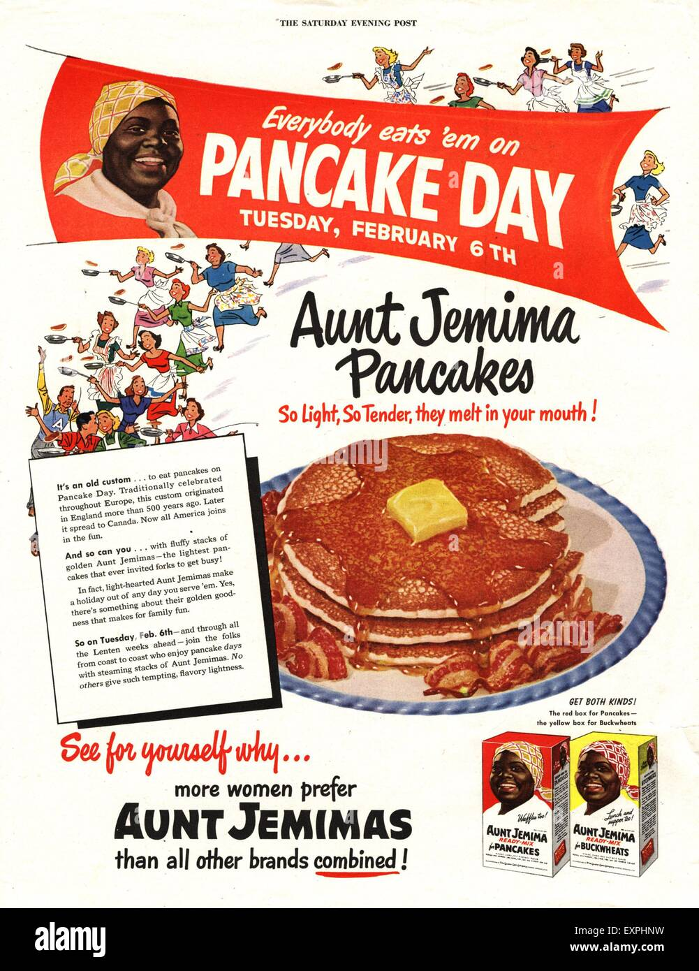 1950s usa aunt jemima magazine advert stock photo 85319413 alamy 1950s usa aunt jemima magazine advert ccuart Gallery