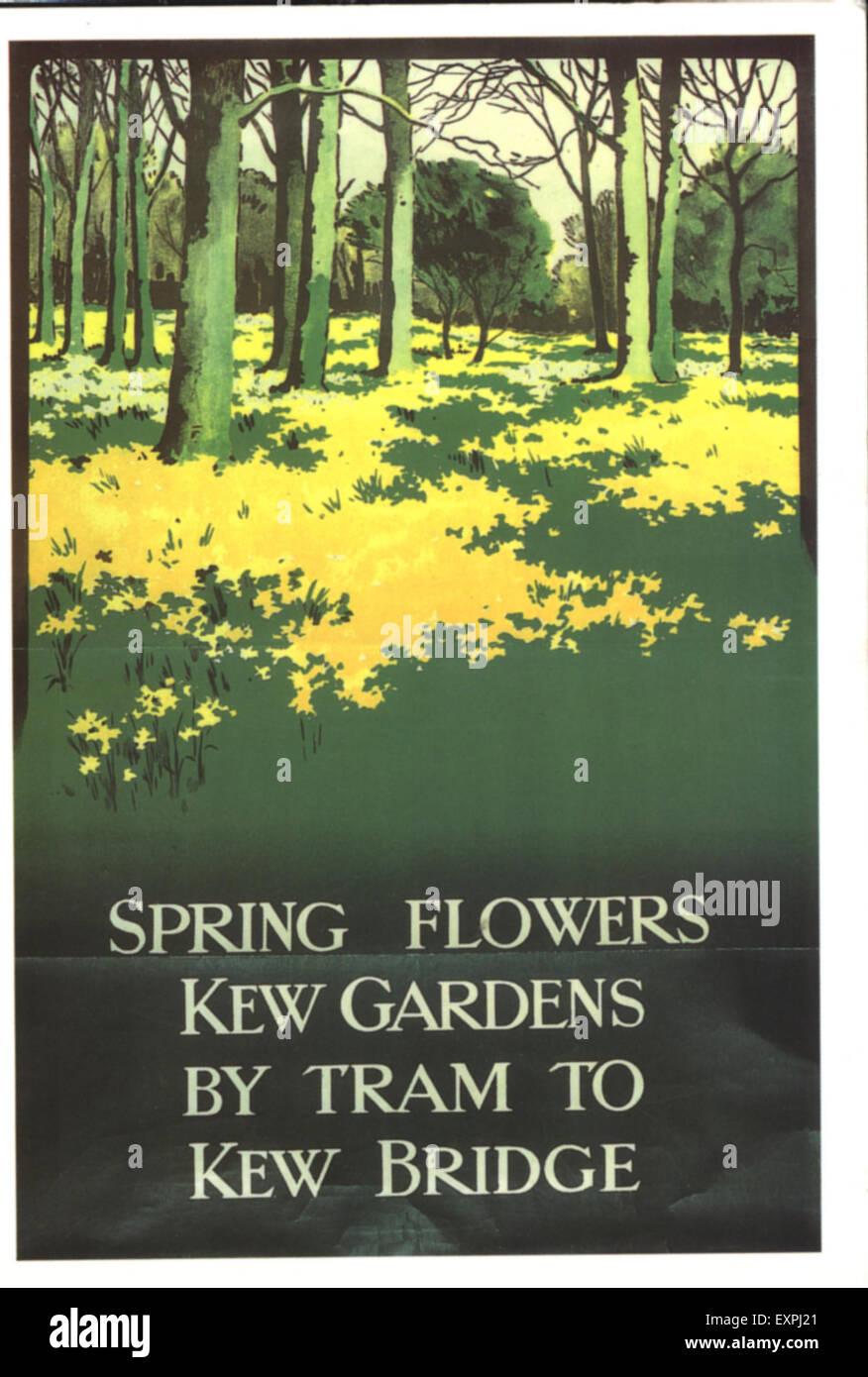 1930s UK London Transport Poster - Stock Image