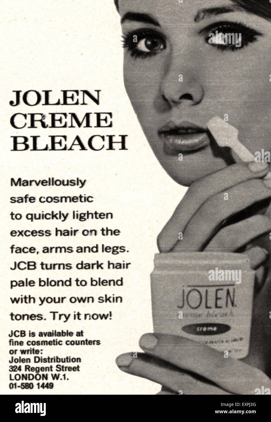 1960s UK Jolen Magazine Advert - Stock Image