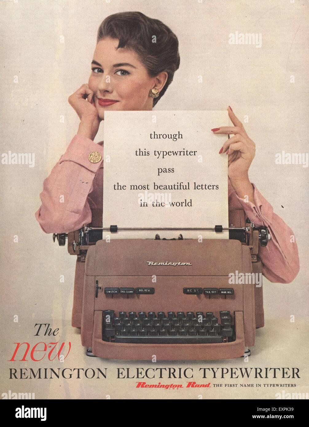 1950s USA Remington Magazine Advert Stock Photo: 85320461 - Alamy