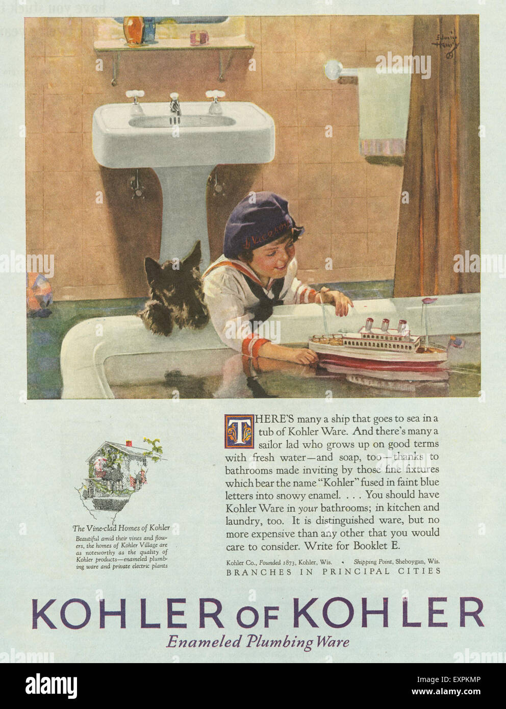 1920s USA Kohler Bathrooms Magazine Advert Stock Photo: 85320950 - Alamy
