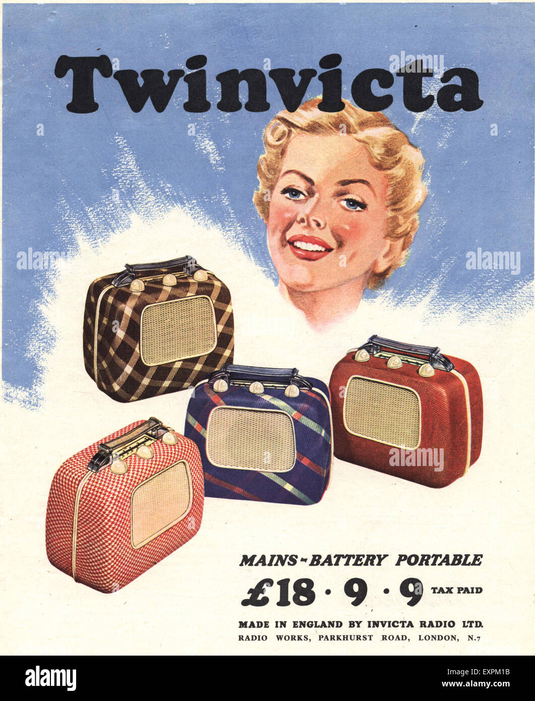 1950s UK Twinvicta Radio Magazine Advert