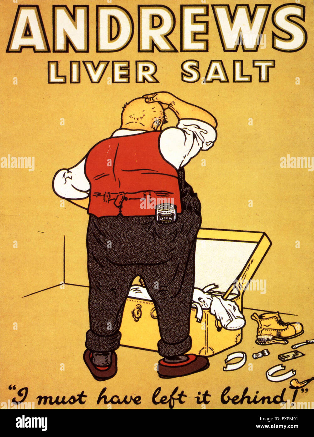 1920s UK Andrews Liver Salt Magazine Advert - Stock Image