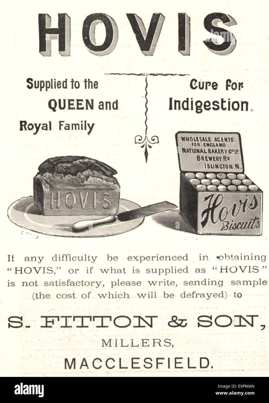 1890s UK Hovis Magazine Advert - Stock Image