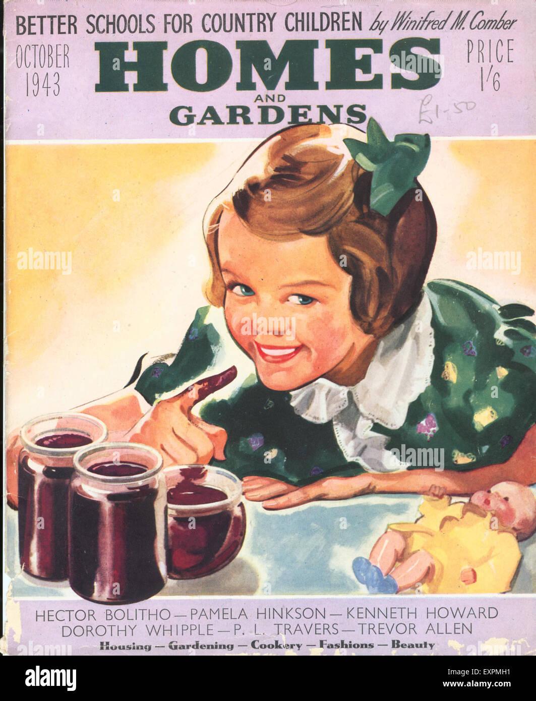 1940s Uk Homes And Gardens Magazine Cover Stock Photo 85321629