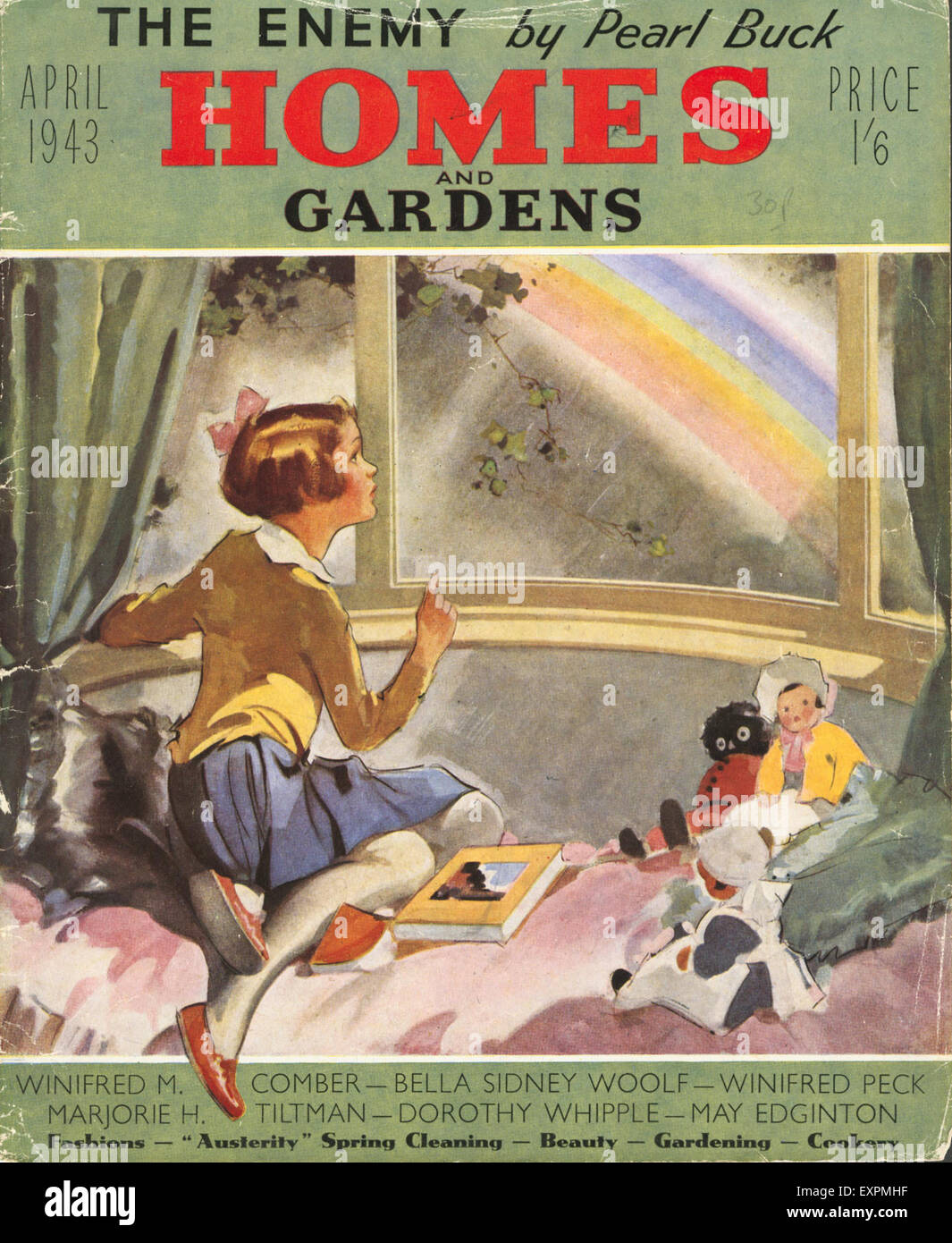 1940s UK Homes and Gardens Magazine Cover - Stock Image