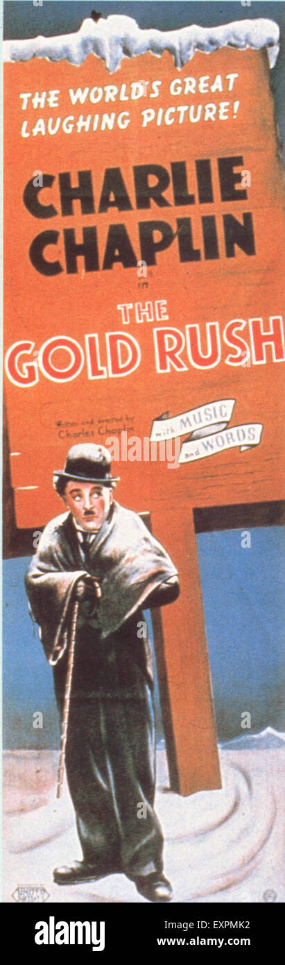 1920s USA The Gold Rush Film Poster - Stock Image