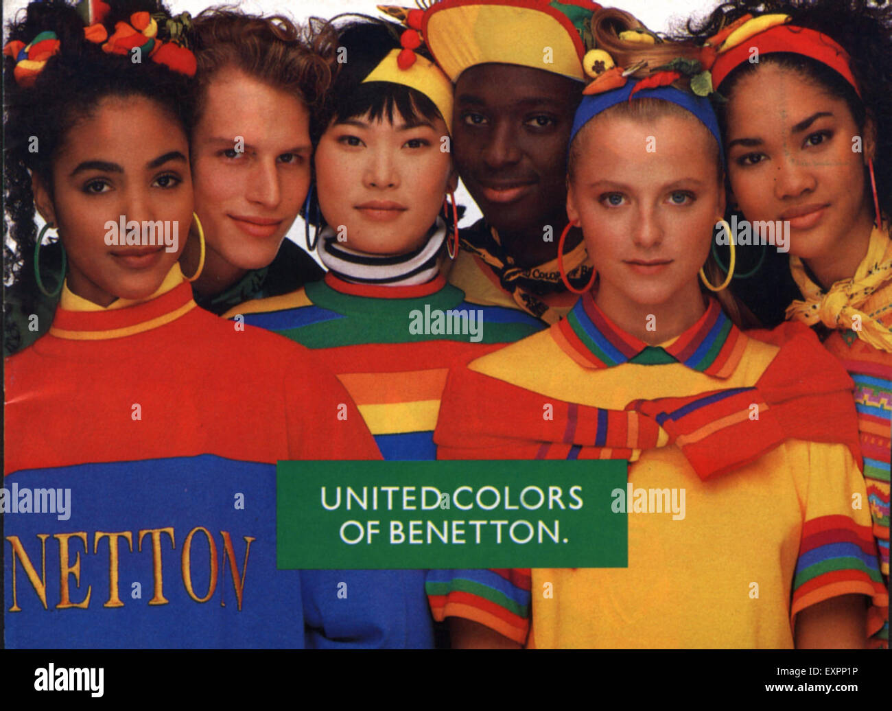 578d26a540 1980s UK United Colors of Benetton Magazine Advert Stock Photo ...