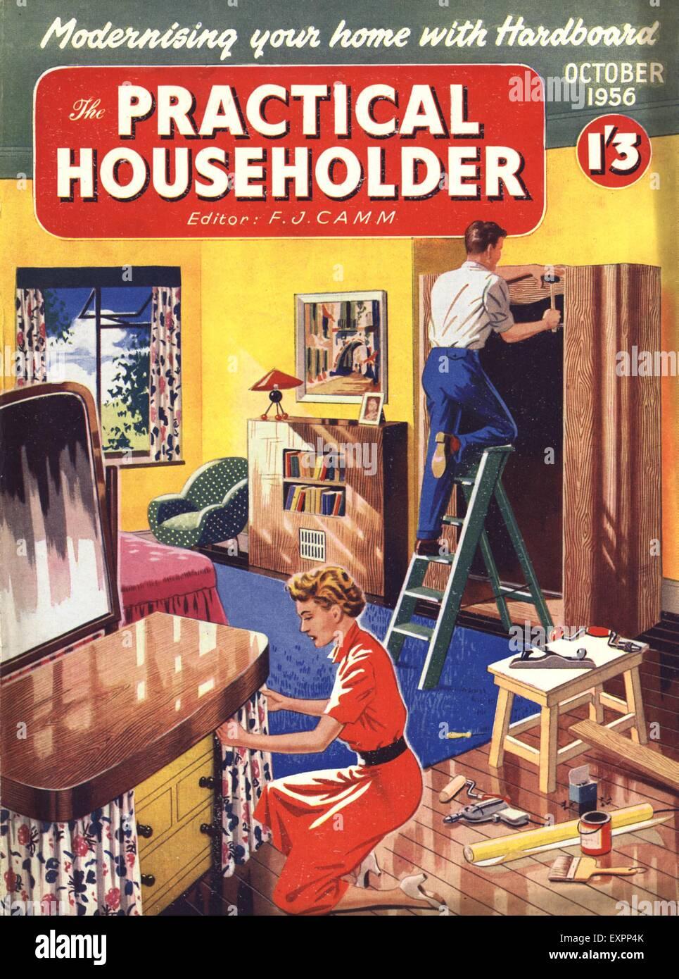 1950s Uk Practical Householder Magazine Cover Stock Photo 85322851