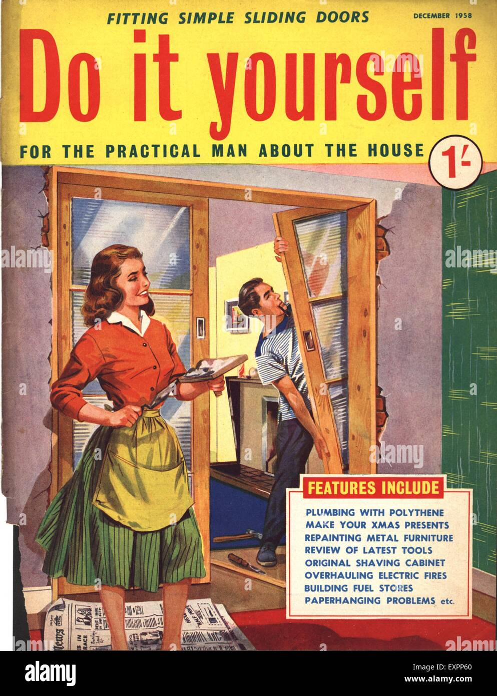 1950s uk do it yourself magazine cover stock photo 85322888 alamy 1950s uk do it yourself magazine cover solutioingenieria Images