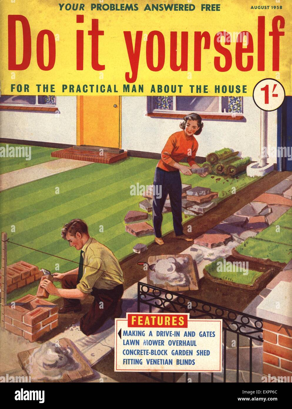 1950s uk do it yourself magazine cover stock photo 85322900 alamy 1950s uk do it yourself magazine cover solutioingenieria Gallery