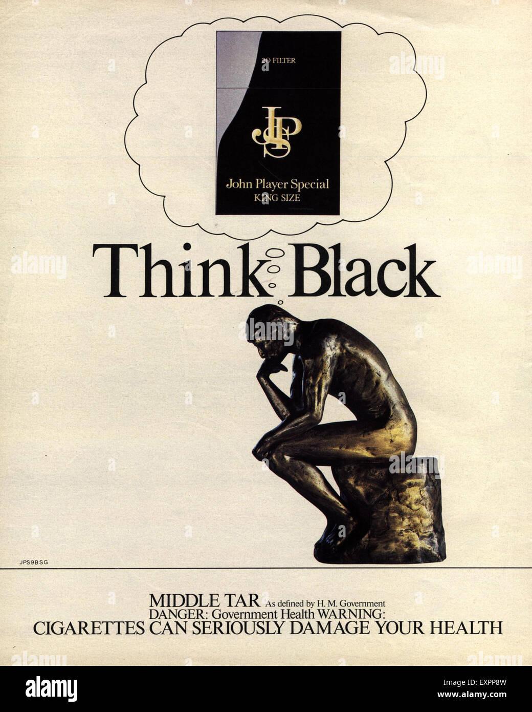 1980s UK John Player Magazine Advert - Stock Image