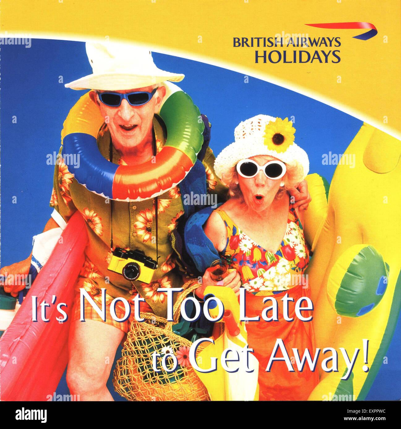 2000s UK British Airways Magazine Advert - Stock Image