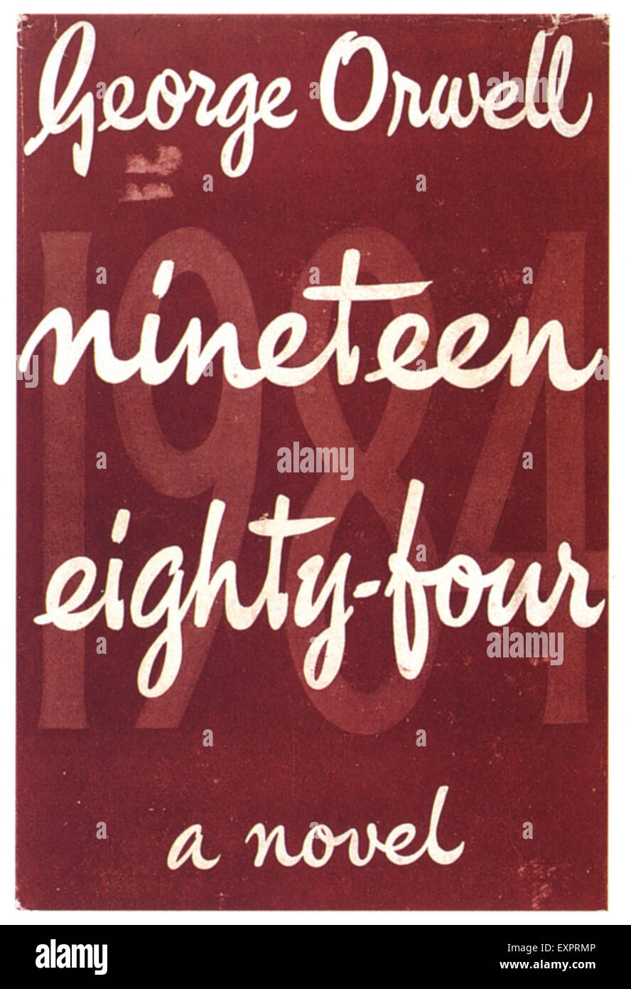 1960s UK Nineteen Eighty Four Book Cover - Stock Image