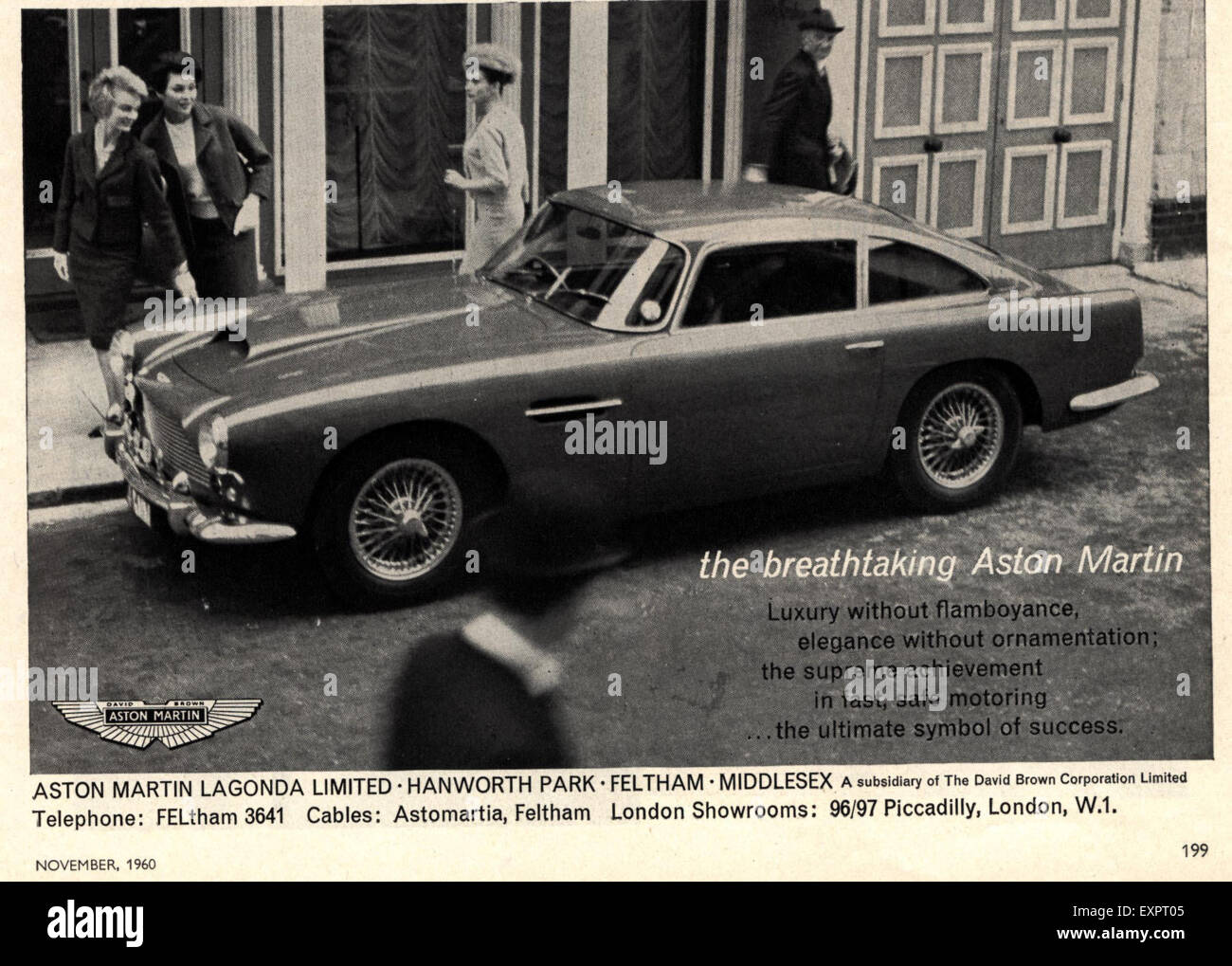 1960s uk aston martin magazine advert stock photo: 85324293 - alamy