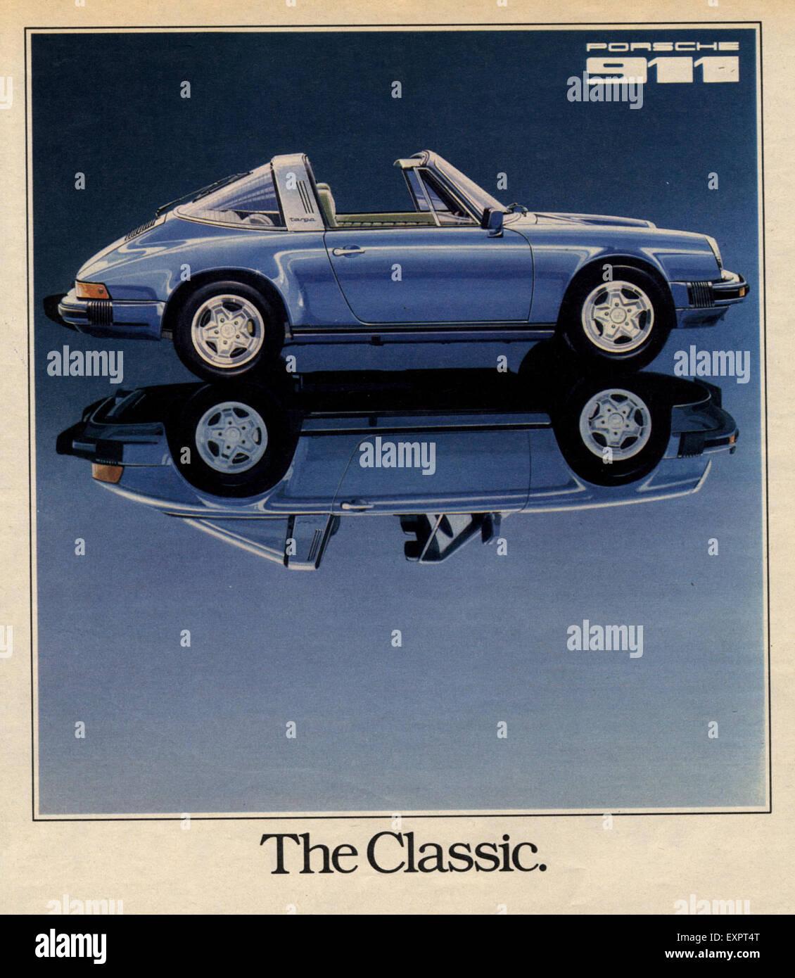 1970s UK Porsche 911 Magazine Advert - Stock Image