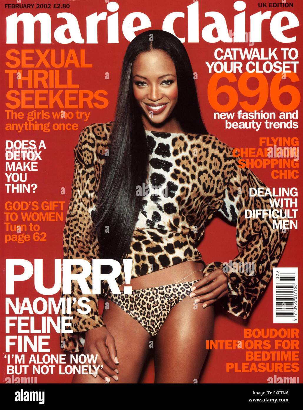 2000s UK Marie Claire Magazine Cover - Stock Image