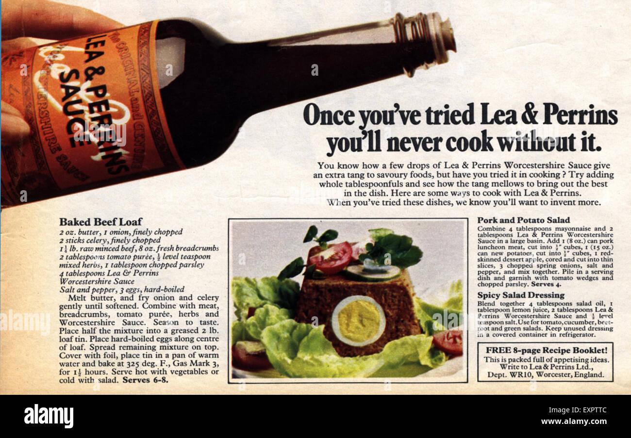 1970s UK Lea and Perrins Sauce Magazine Advert - Stock Image
