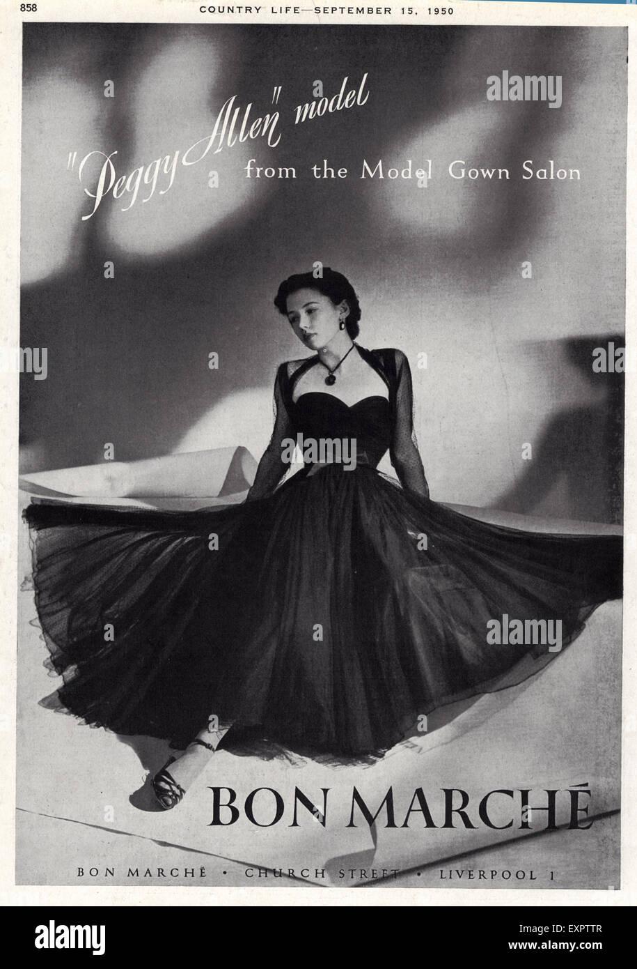 1950s UK Bon Marche Magazine Advert - Stock Image