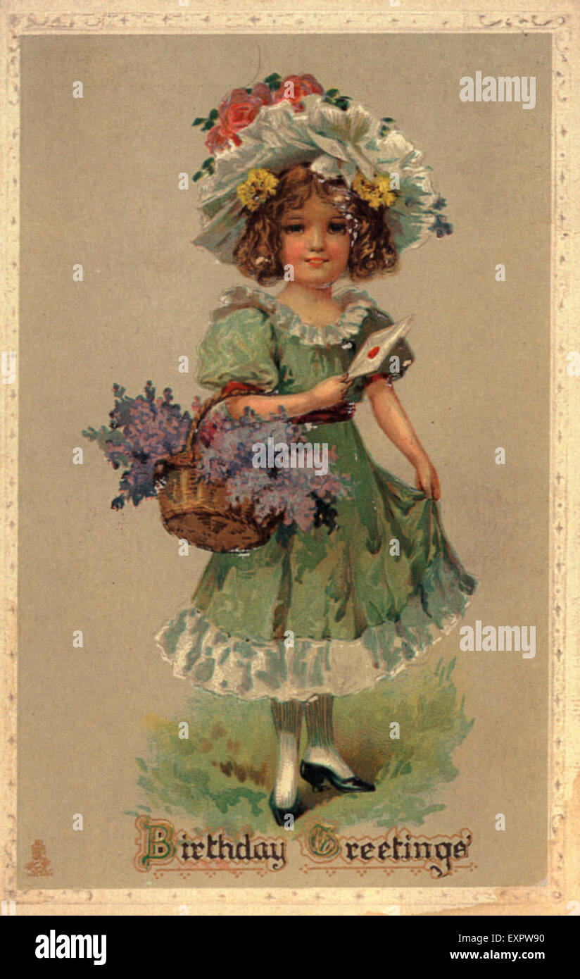 1890s UK Birthdays Card Greetings