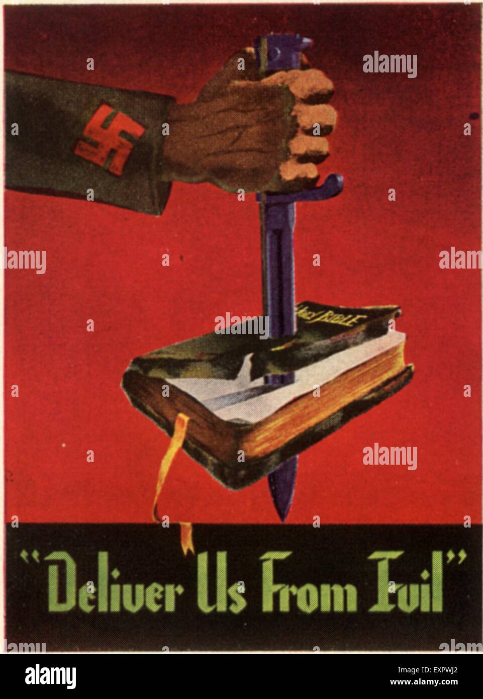1940s USA Propaganda Poster - Stock Image