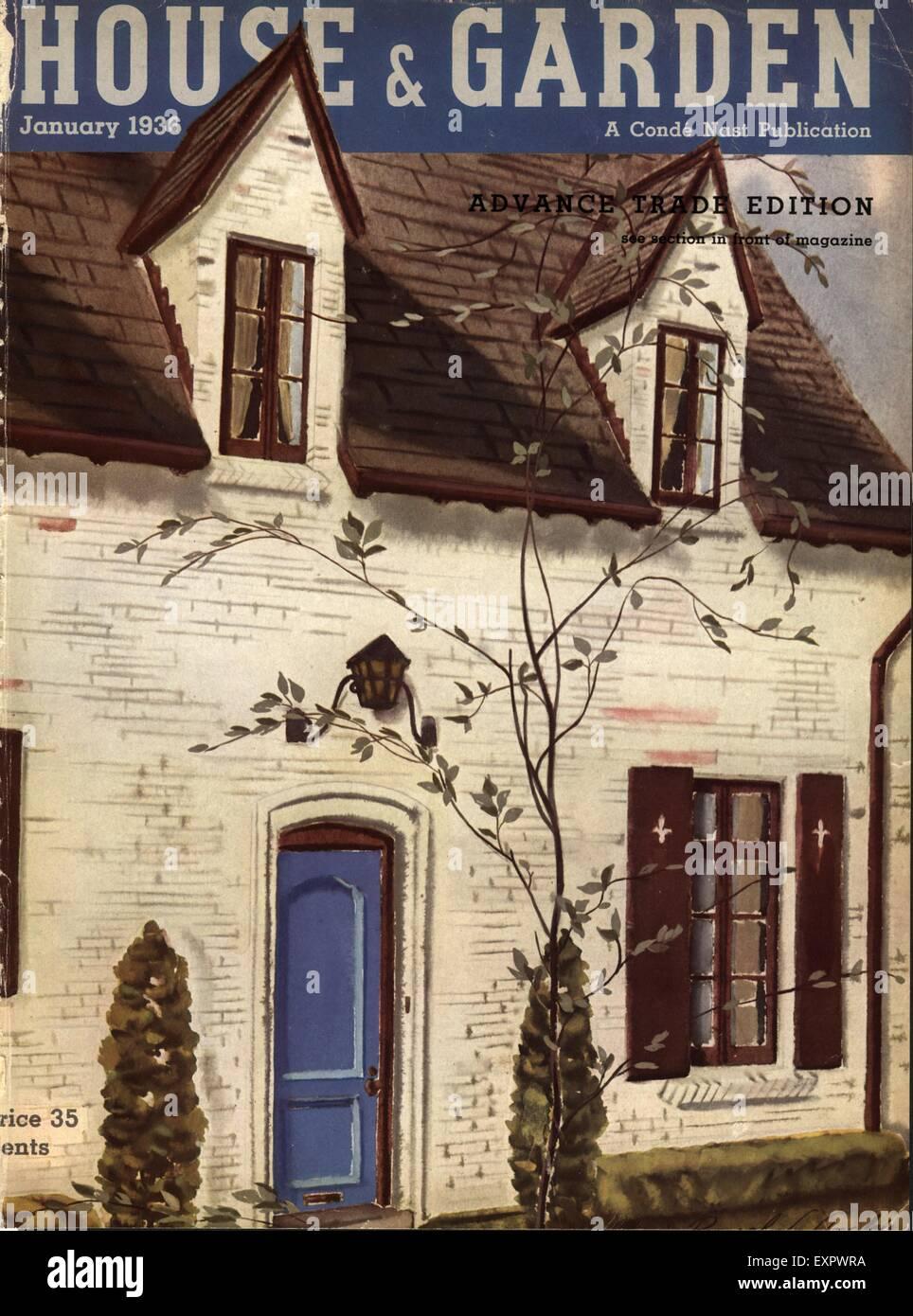 1930s USA House And Garden Magazine Cover