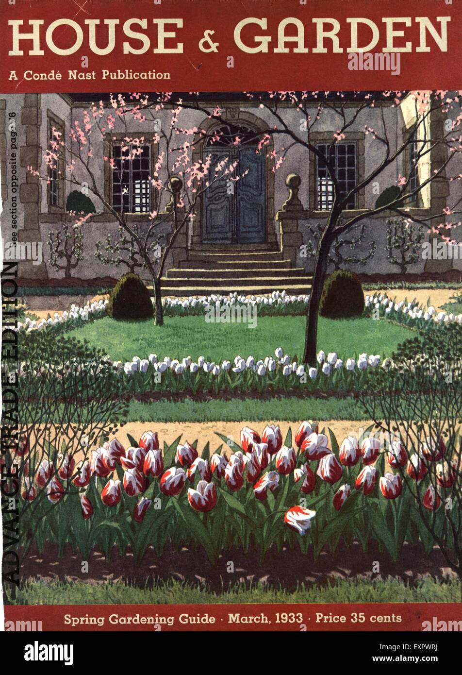 Awesome 1930s USA House And Garden Magazine Cover