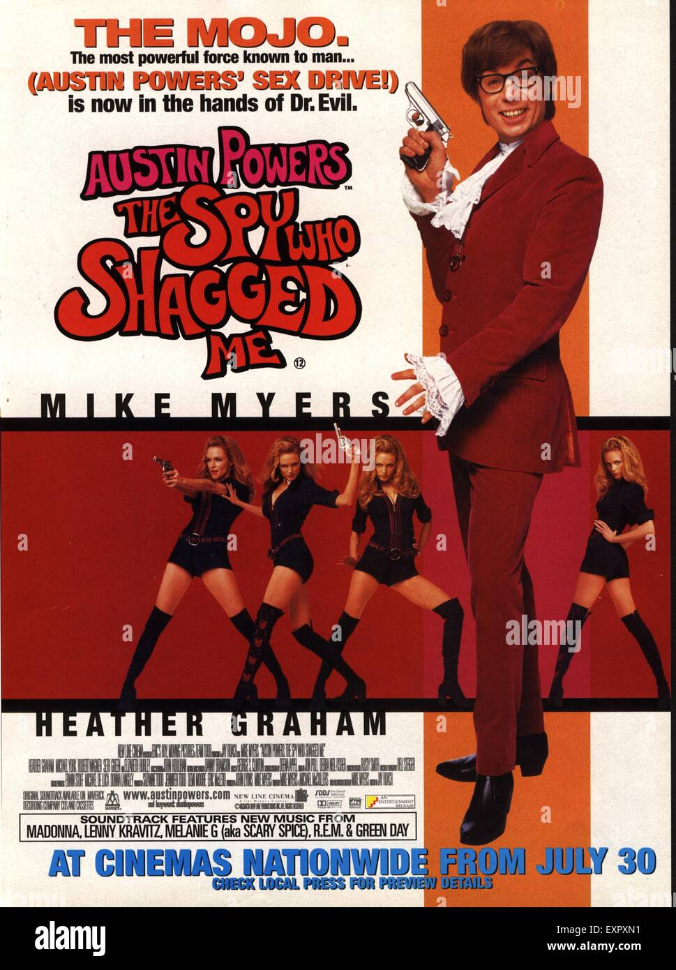 2000s USA The Spy Who Shagged Me Film Poster - Stock Image