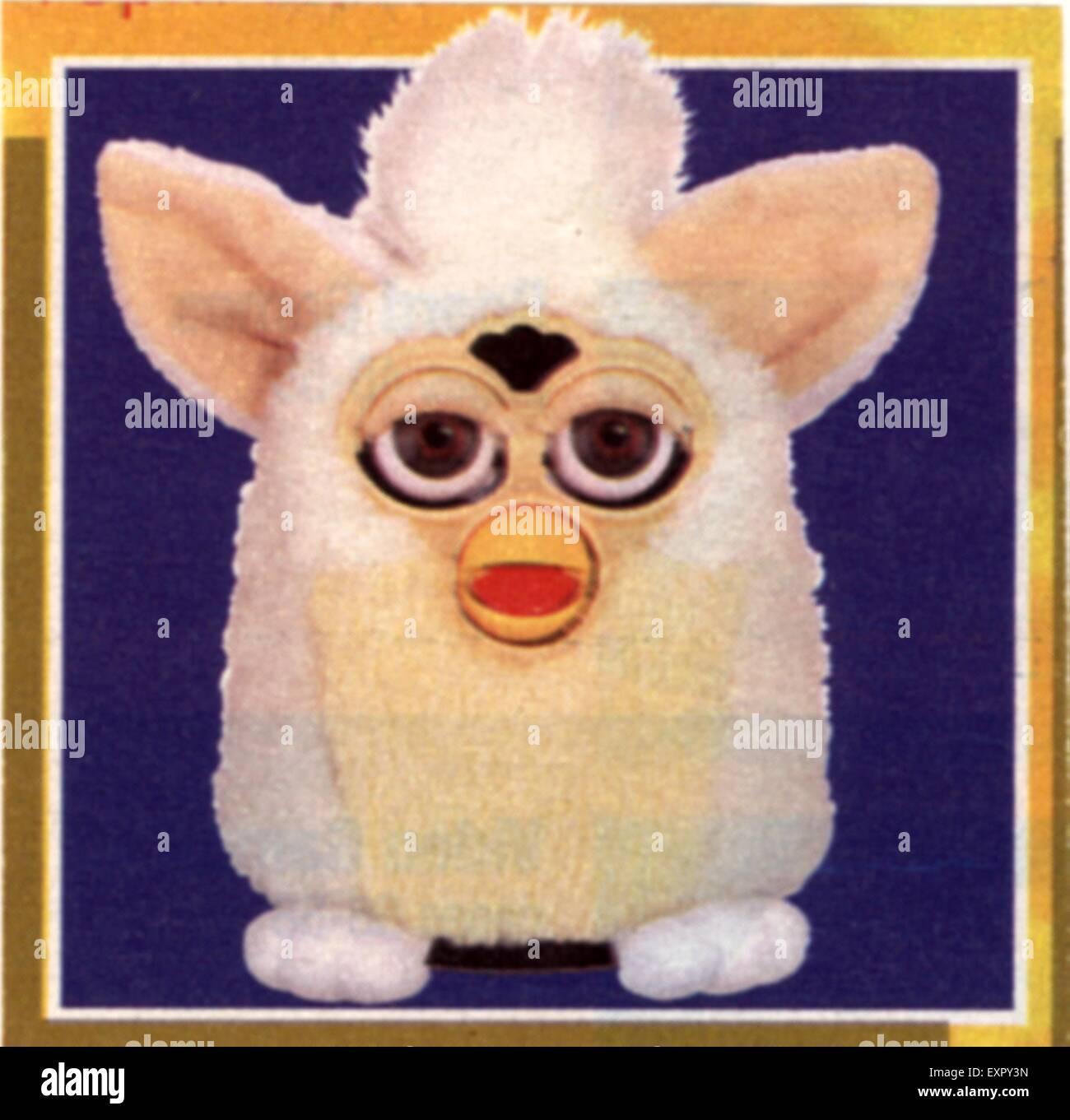 1990s UK Furby Magazine Advert - Stock Image
