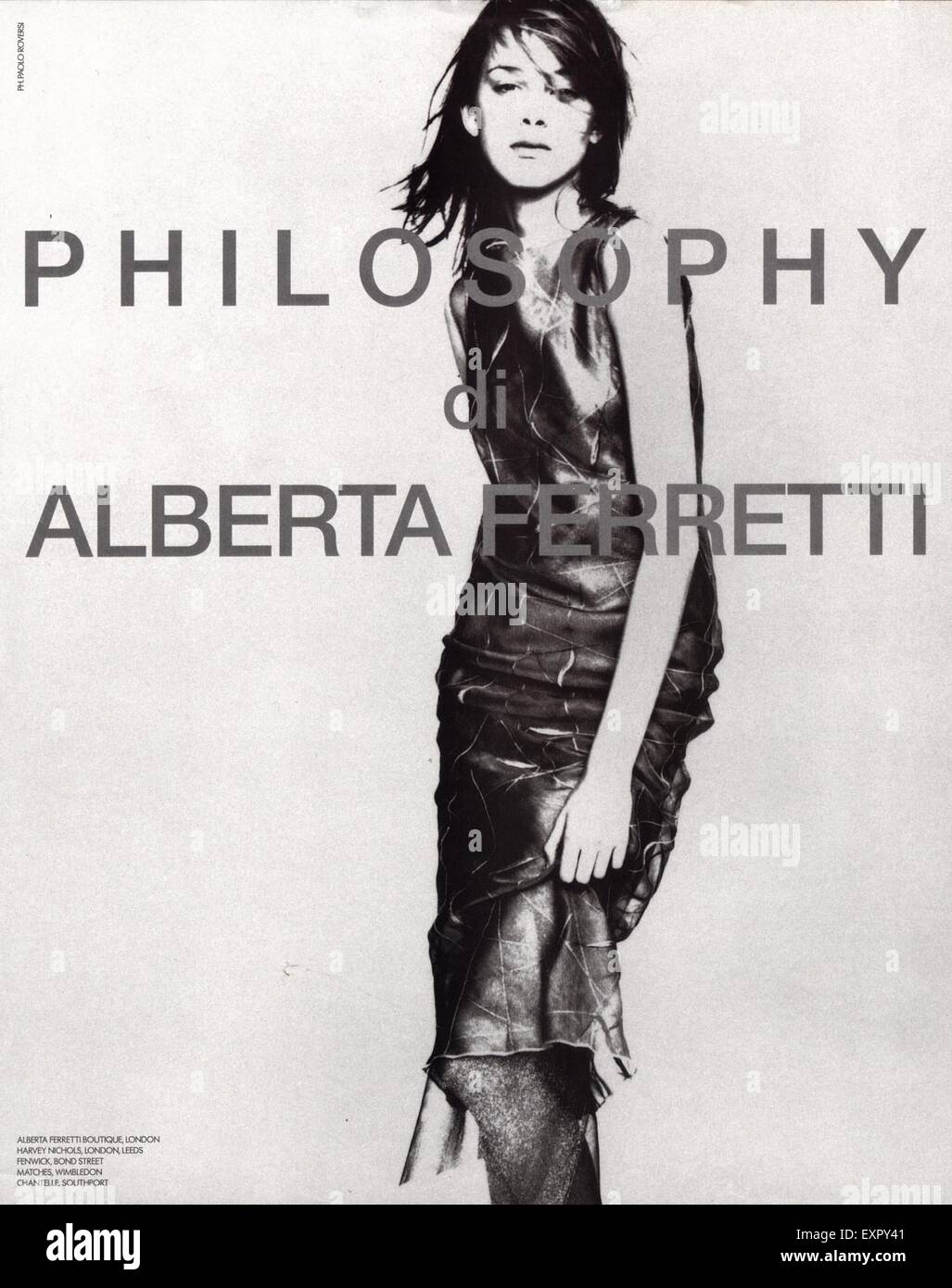 1990s UK Alberta Ferretti Philosophy Magazine Advert - Stock Image