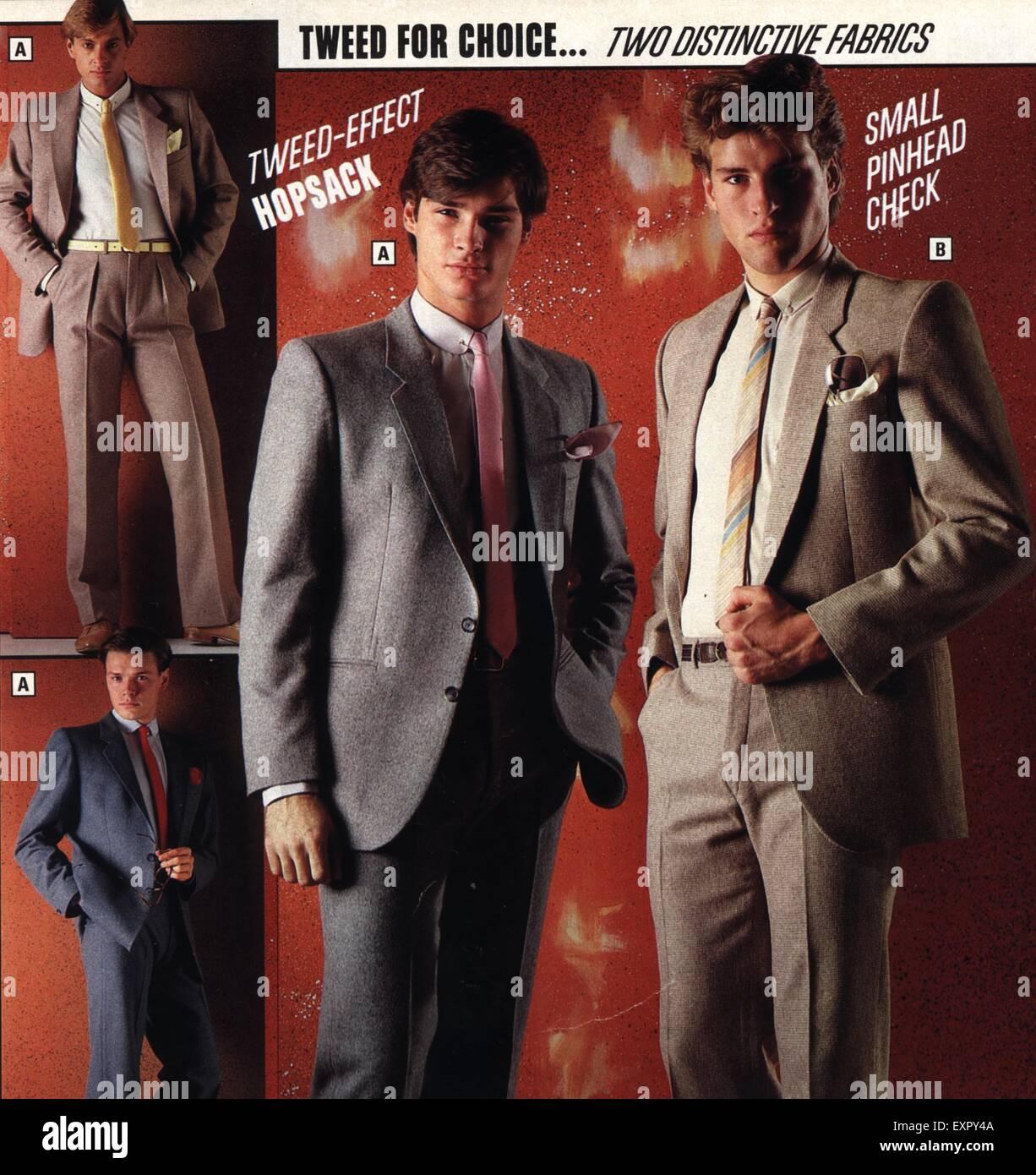 1980s UK Mens Fashion Catalogue Brochure Plate
