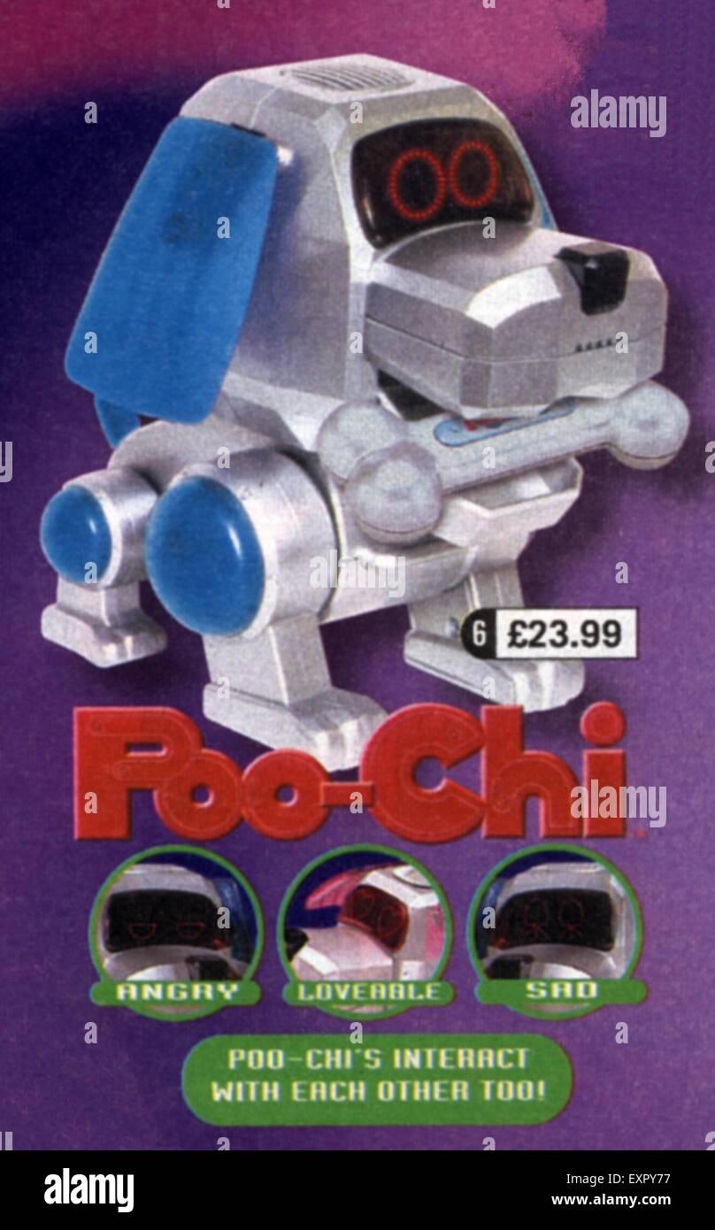 1990s UK Poo-Chi Robots Dogs Magazine Advert - Stock Image
