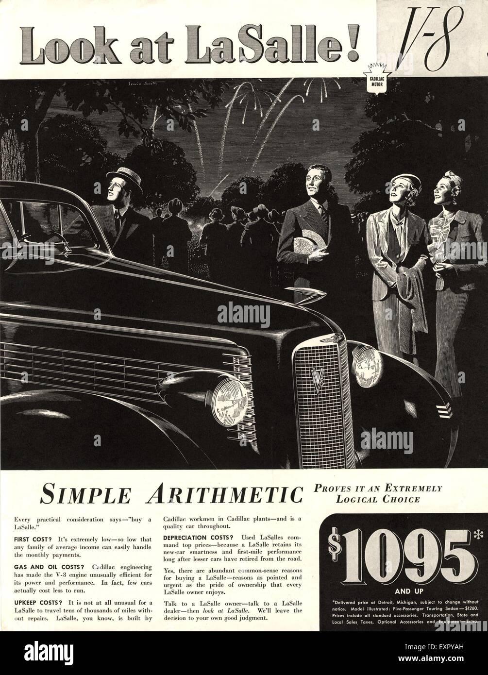 1930s Usa Cadillac Magazine Advert Stock Photo 85326937 Alamy