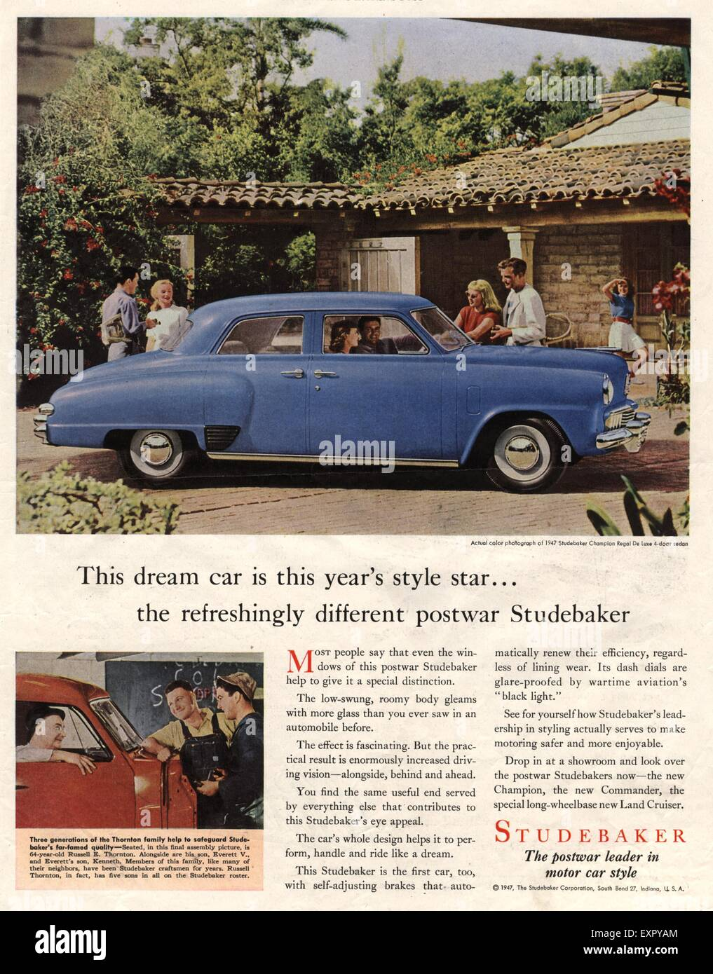 1940s USA Studebaker Cars Magazine Advert Stock Photo: 85326940 - Alamy