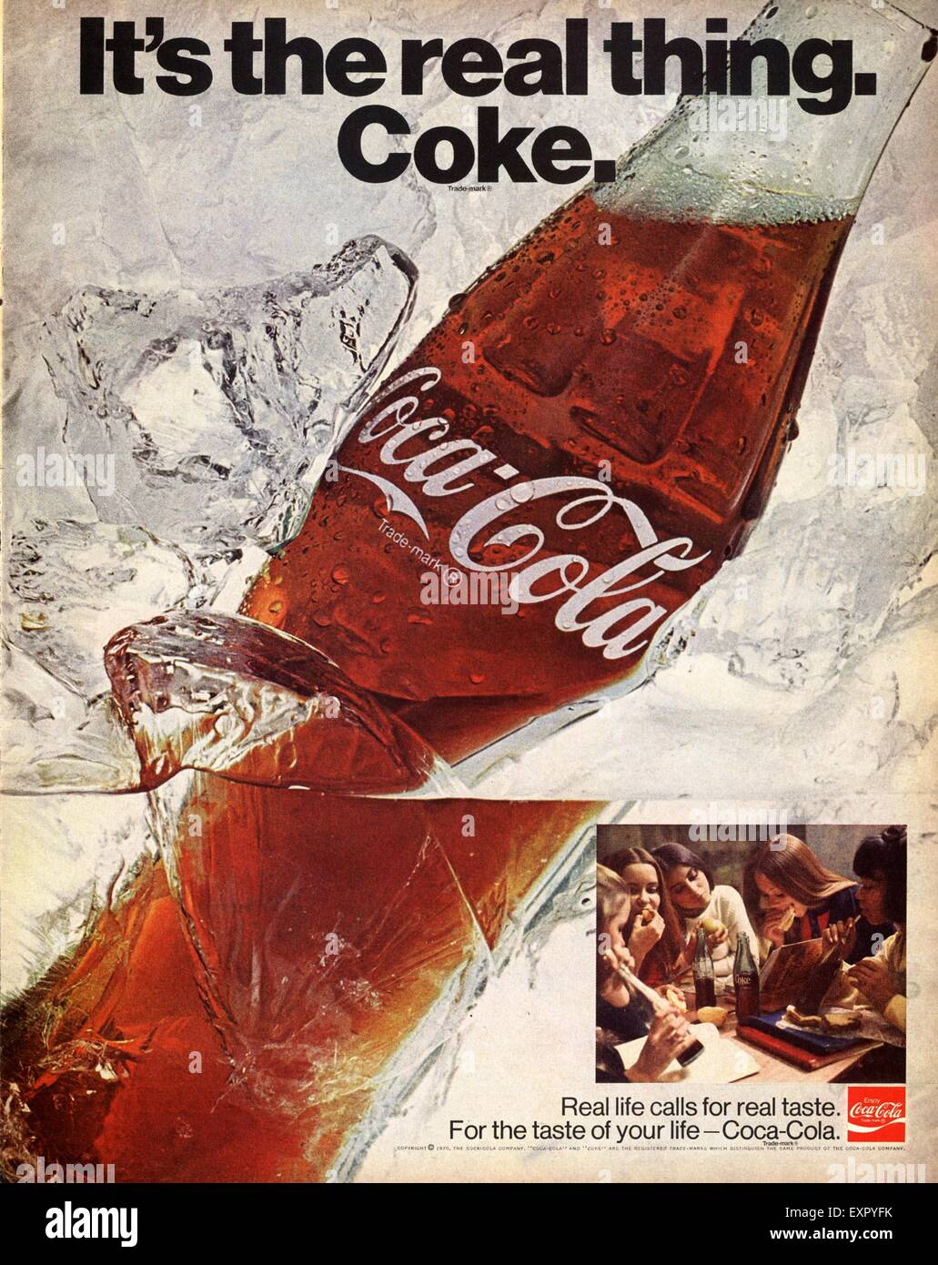 1970s USA Coca-Cola Magazine Advert Stock Photo: 85327079