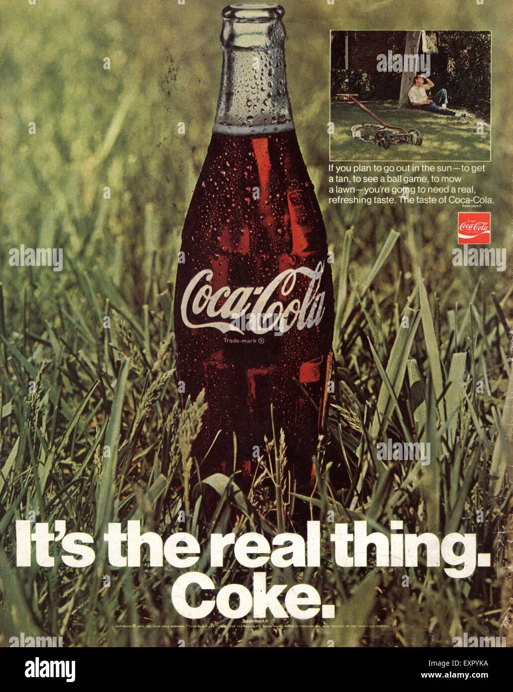 1970s USA Coca-Cola Magazine Advert Stock Photo: 85327182
