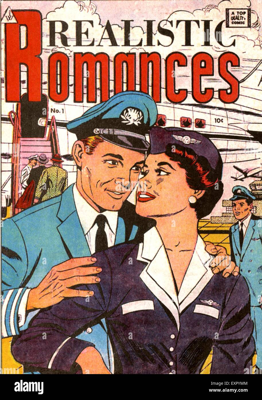 1980s USA Realistic Romance Comic/ Annual Cover - Stock Image