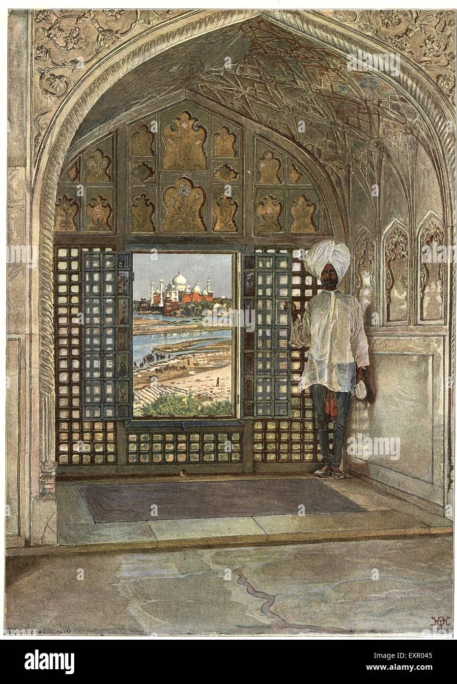 1910s UK India The British Empire Last Days Raj Magazine Plate - Stock Image